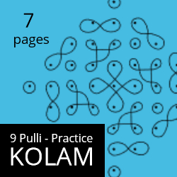 Kolam - 9 Pulli Practice